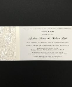 Simply Elegant DL Invitation Lustre and Ivory