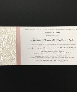 DL Wedding Invitation