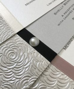 Simply Elegant Invitation Pearl close up