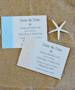 Beach Save the Date cards by Something Fabulous