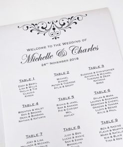 Divine Inspiration A3 Table Seating Plan