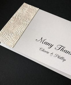 Simply Elegant A6 Folding Thank You Card - Pearl Ivory