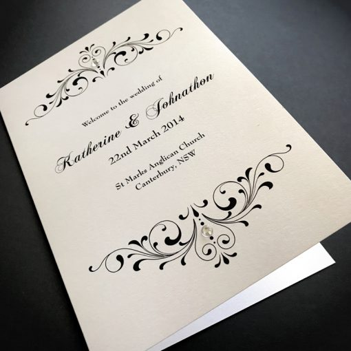 Divine Inspiration Order of Service Cover - Crystal White
