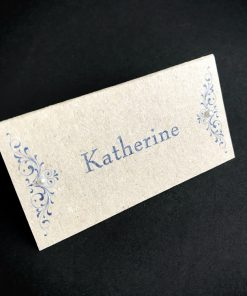 Divine Inspiration Place Card - Blue on Natural & Pearl